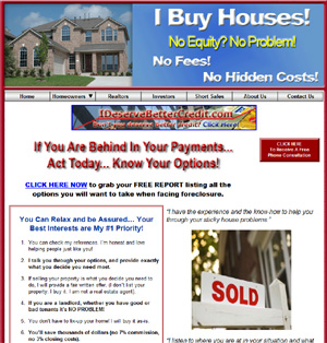 I Buy Houses Real Estate Investor Custom Website